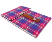 Kindle case / Nook case - pink, purple and gray vintage tweed
