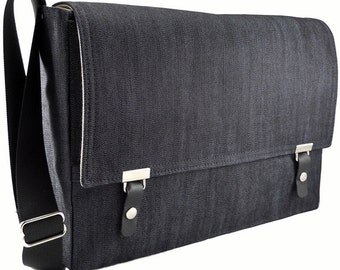 "13"" MacBook Air messenger bag - dark denim"