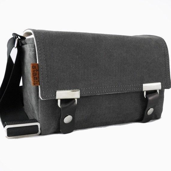 Small DSLR camera bag - gray herringbone
