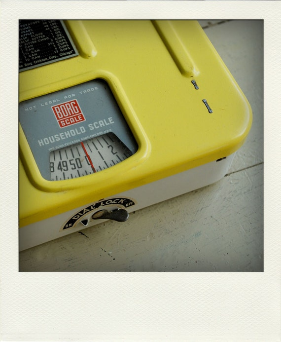 Beautiful Yellow Household Kitchen Postal Scale