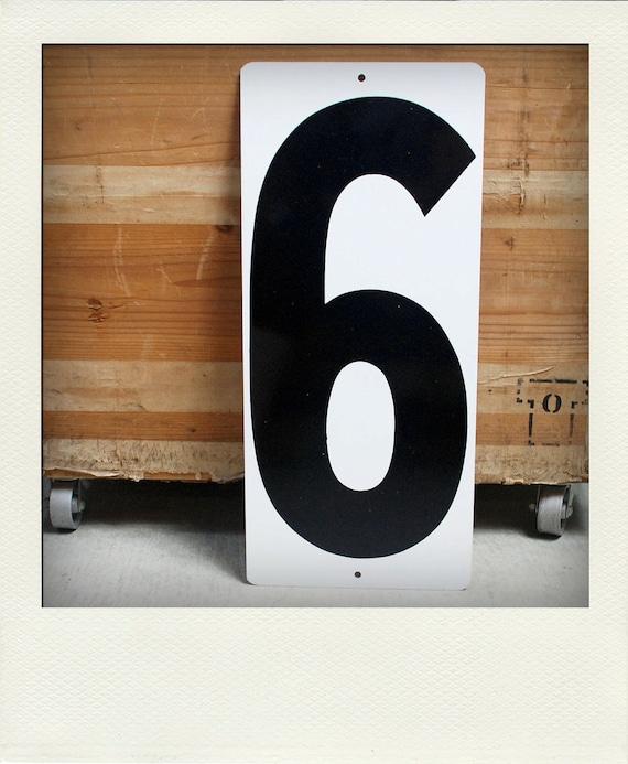 Vintage L Metal Gas Station Price Sign Number - 6 8 or 9