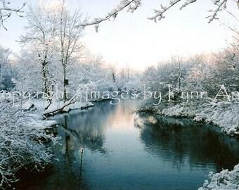 Snowy Creek 11x14 Unframed Original Fine Art Photograph