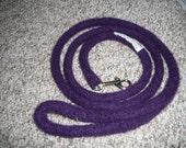 Felted Dog Leash - Purple
