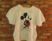 VINTAGE Mickey Mouse top... cropped sweatshirt