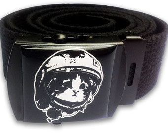 Space Kitty Canvas Belt