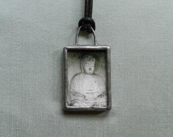Buddha Necklace, Purse Jewelry, Buddha Charm, Photography Jewelry, Handbag Bling, Zen Karma Bliss, Wearable Art, Buddah Pendant,Yoga Jewelry