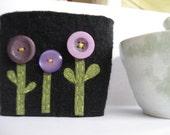3 Purple Flowers Coffee and Tea Sleeve