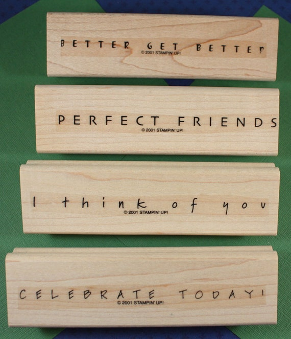 Simple Sayings-Stampin Up Set- Set of 4 Rubber Stamps