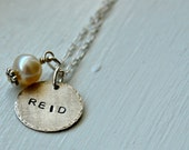 Single Hand Stamped Name Necklace