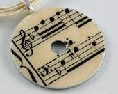 Upcycled Washer Pendant - Vintage Music