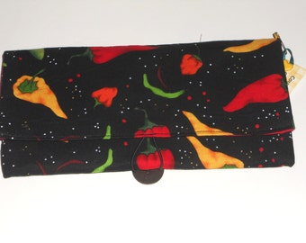 Hot Pepper Coupon Organizer Storage Case  with Dividers