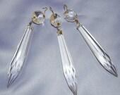 Vintage Glass Chandelier Prisms