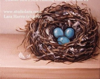 CUSTOM -Build Your Own Bird's Nest Painting in OIL by LARA 8x10