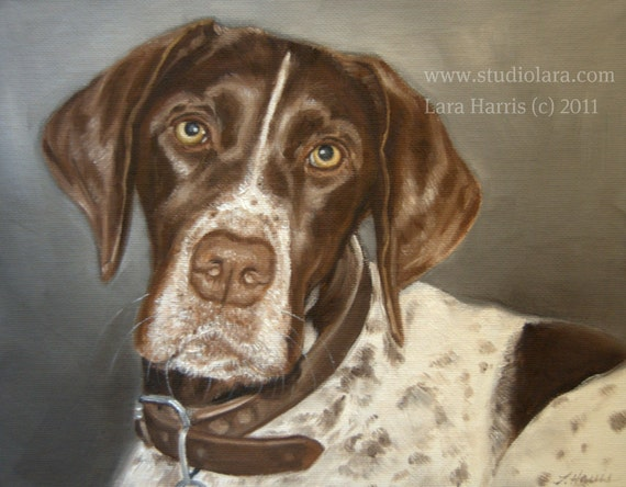 Custom Pet Portrait Dog Painting in Oil by LARA 11x14 or 12x12