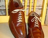 RESERVED for Chase Aspen  I WALK The LINE Bass True Moccasins / Vintage 1940's / Men's Shoes / Men's size 7D