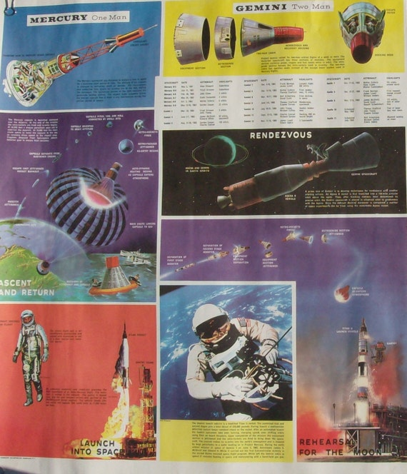 SAIL TO THE MOON Vintage Early 60's Set of 3 Esso Space Flight to the Moon Promo Posters Advertising/History Ephemera  Sale Item