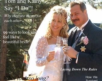 Custom wedding magazine cover