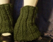 Grass GREEN Tailored Chunky Leg Warmers - Free US Shipping