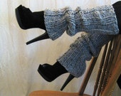 Reserved Ultra or Knee High BOOT STULE CHARCOAL Gray  Legwarmers