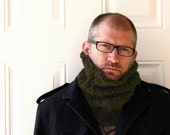 Neckwarmer Men or Cowl, Unisex in Army Green or Pick Your Color