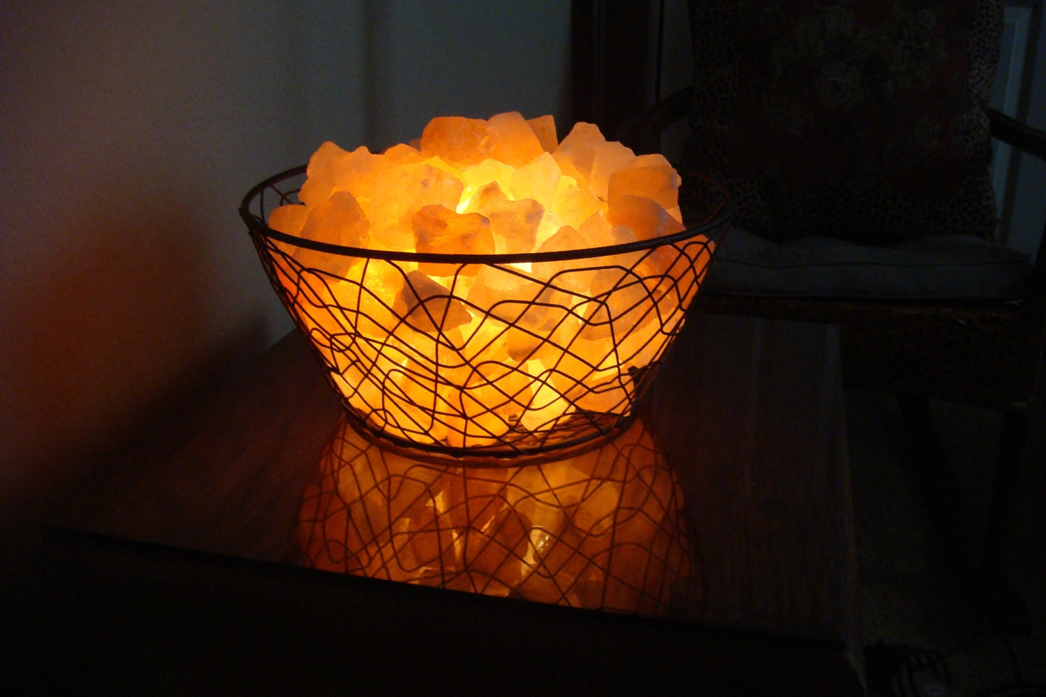 Himalayan Salt Lamp And Plants : Himalayan Salt Lamp Basket