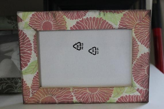 4x6 Distressed flower frame