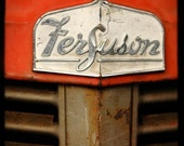Red Ferguson Tractor - Fine Art Signed Photograph, vintage, white, grill, farm equipment.