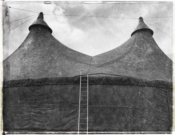 Items similar to Circus Tent - Black and white Limited ...