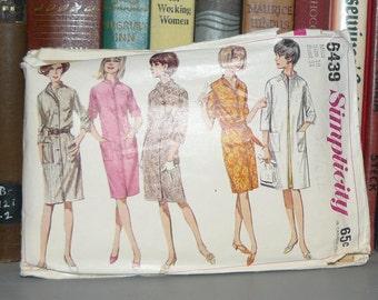 Neat Vintage 1960s Simplicity Women's Dress/Coat Pattern 6439-Size 10
