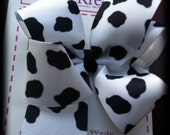 COW PRINT - Extra Large Boutique bow