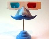 Blue Nose Eyeglass Stand Moustache Key Hooks