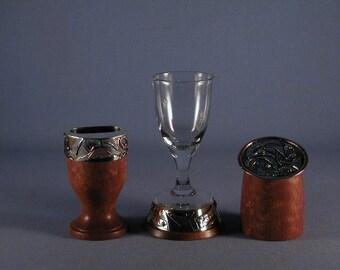 Silver and Wood Havdallah Set