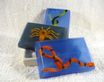 Creepy Crawly Soaps with Spiders and Snakes, Citrus Blend Scent