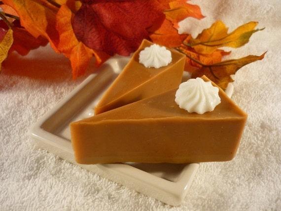 Pumpkin Pie Slice Soaps, Set of 2