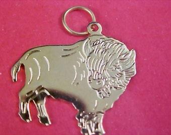 REDUCED~FABULOUS ~ Gilt Gold Engraved Taurus Bull Charm