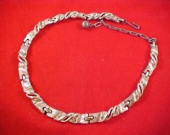 Vintage LISNER Gold Tone Ornate Link Choker and Necklace