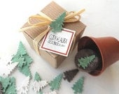 Seed Paper Tree Winter Wedding Favors - Wedding Table Decorations - Personalized Favor Tags - Set of 100 by Nature Favors