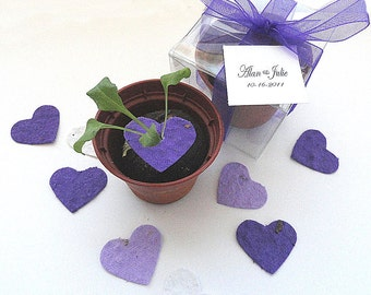 50 Purple Seed Heart Wedding Favors Party Favors Decorations -  favor box personalized tags by nature favors