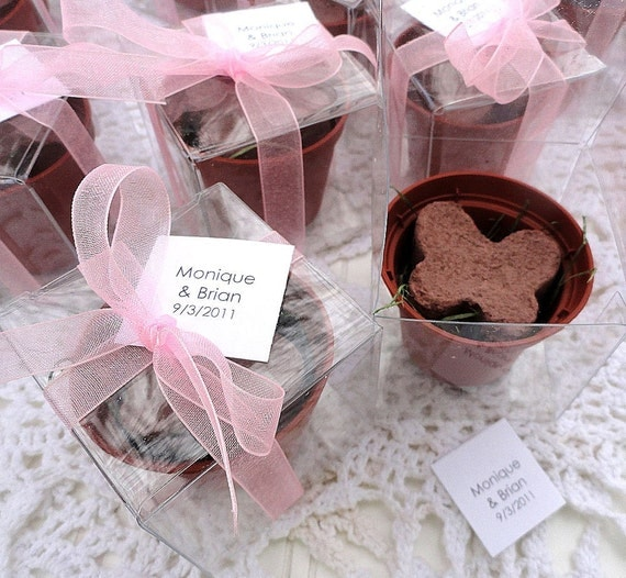 Flower Seed Wedding Favours: Grow Birthday Party Favors Butterfly Seed Flower Pot Favor Box