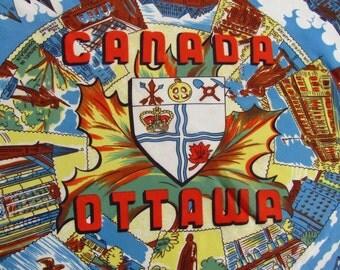 Vintage Souvenir of Ottawa, Canada Head Scarf