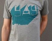 YAY hand printed fairtrade t-shirt