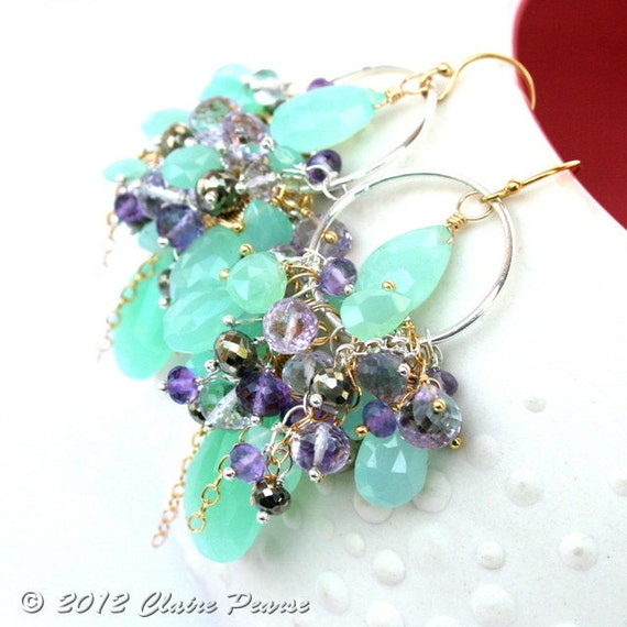 oOo SALE oOo MINT FLOWER Earrings - 30 Percent Off Today Only
