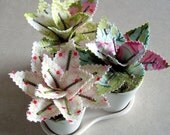 Sweet Potted Fabric Plants - Spring Romance