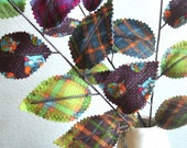 Sweet Leaves - Woodland Owl Fabric Branches (set of 3)