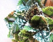 Fabric Leaf Potted Plant - Vintage St. Patrick's Day