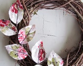 Custom Fabric Leaf Wreath - RESERVED for Geretyr1