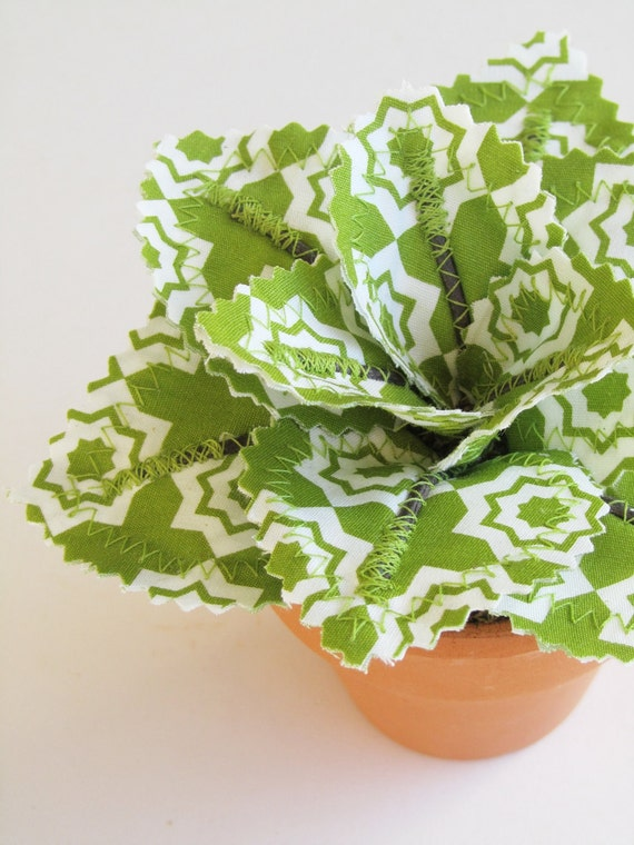 Fabric Leaf Potted Plant Avocado Green Tiles Spring By