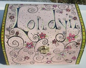 Personalized hand painted keepsake treasure and jewelry boxes