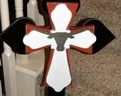 Large University of Texas Longhorn Cross