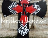 Large Zebra and Red Cross with Initial